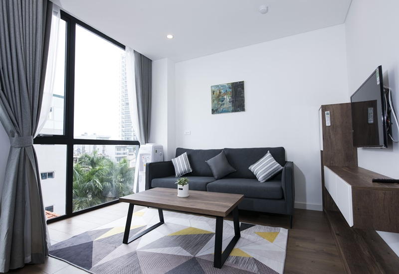 New balcony apartment for rent with 01 bedroom in Tay Ho street, Tay Ho