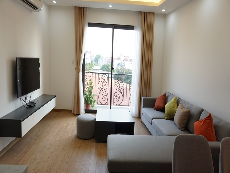 Nice balcony apartment for rent with 02 bedrooms in Au Co, Tay Ho