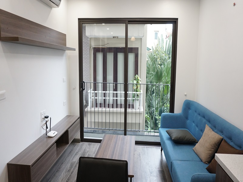 Balcony 01 bedroom apartment for rent in Tay Ho str, Tay Ho