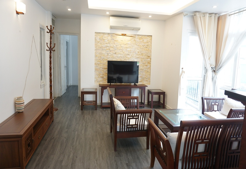 Balcony, nice 02 bedroom apartment for rent in Truc Bach, Ba Dinh
