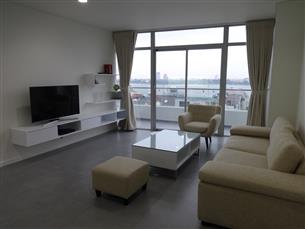 Lake view, brand-new apartment for rent with 02 bedrooms in Lac Long Quan, Tay Ho