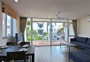 Big balcony 01 bedroom apartment for rent in Dang Thai Mai, Tay Ho