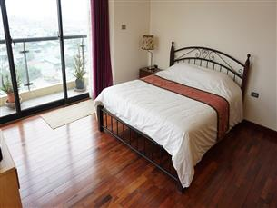 Duplex, big balcony, nice view, serviced apartment for rent with 03 bedroom In Au Co, Tay Ho