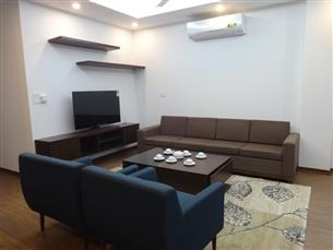 Balcony, new serviced apartment with 02 bedrooms for rent in To Ngoc Van, Tay Ho