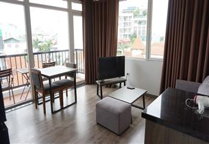 Big balcony apartment for rent with 01 bedroom in To Ngoc Van, Tay Ho