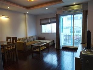 Balcony serviced apartment with 02 bedroom for rent in Hoan Kiem